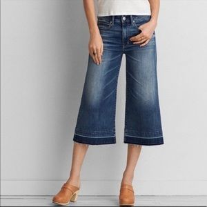 AE Festival Crop Jeans culotte style size 0